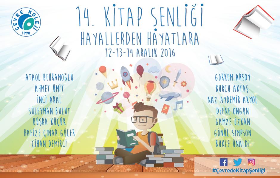 14. Kitap Şenliği'nde 14 Ünlü Yazar Çevre'de