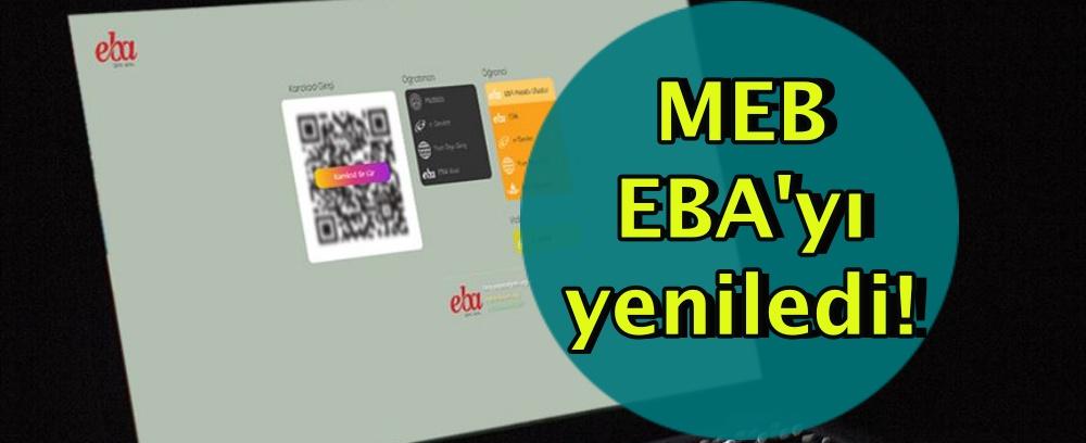 MEB EBA'yı yeniledi!