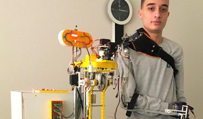 Lise öğrencisinden 'Mobil Robot Kol' projesiyle INSPO birinciliği