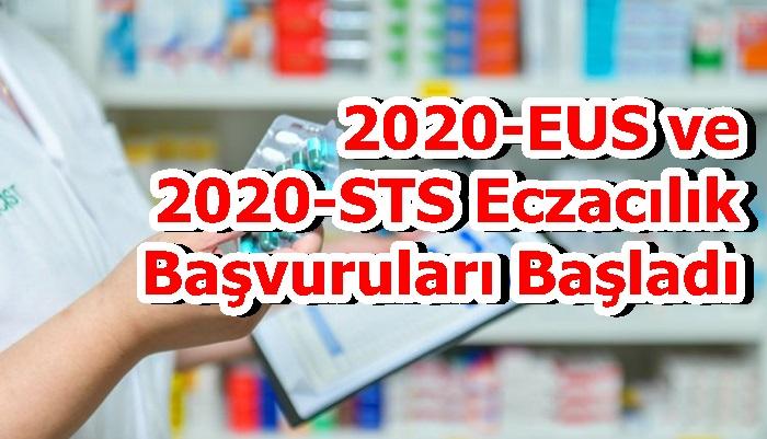 2020-EUS ve 2020-STS Eczacılık Başvuruları Başladı