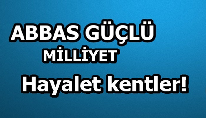 Hayalet kentler!