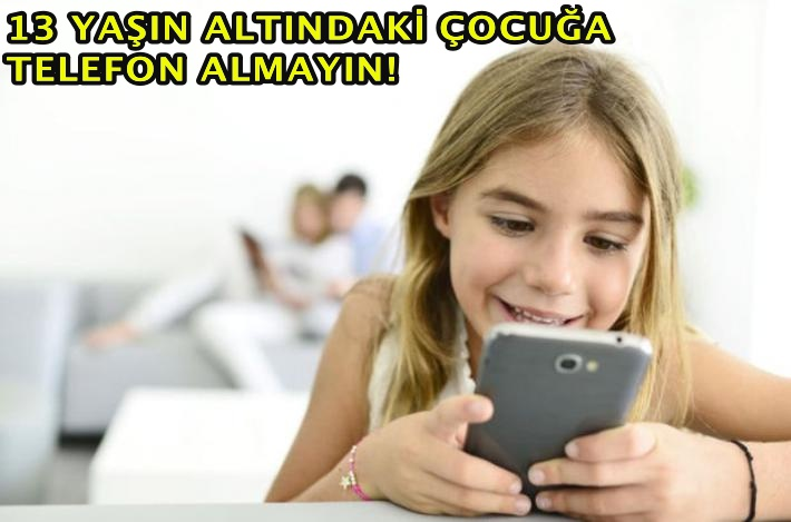"""""""AKILLI TELEFON ZİHİNSEL GELİŞİMİ OLUMSUZ ETKİLİYOR"""""""