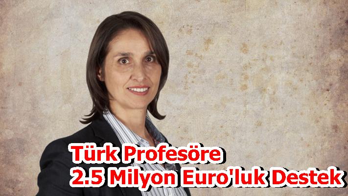 Türk Profesöre 2.5 Milyon Euro'luk Destek