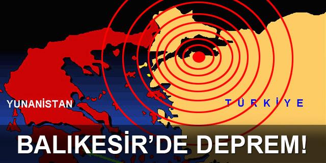 Balıkesir'de Deprem !