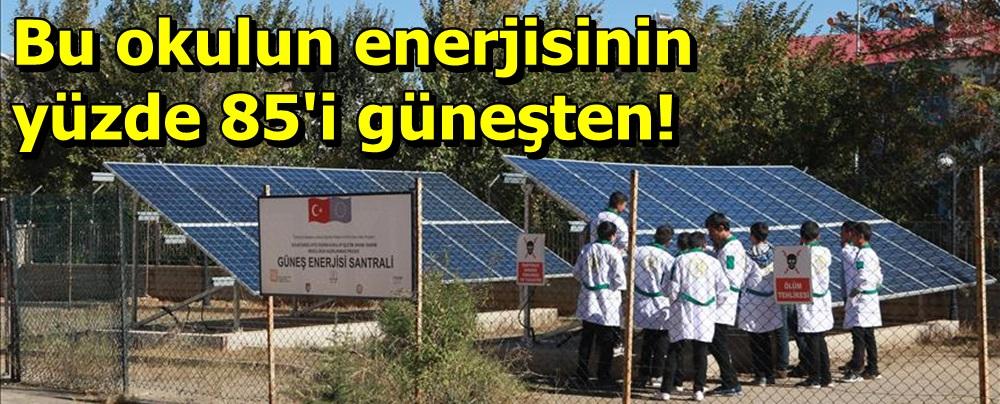 Bu okulun enerjisinin yüzde 85'i güneşten