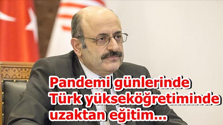 Pandemi günlerinde Türk yükseköğretiminde uzaktan eğitim...
