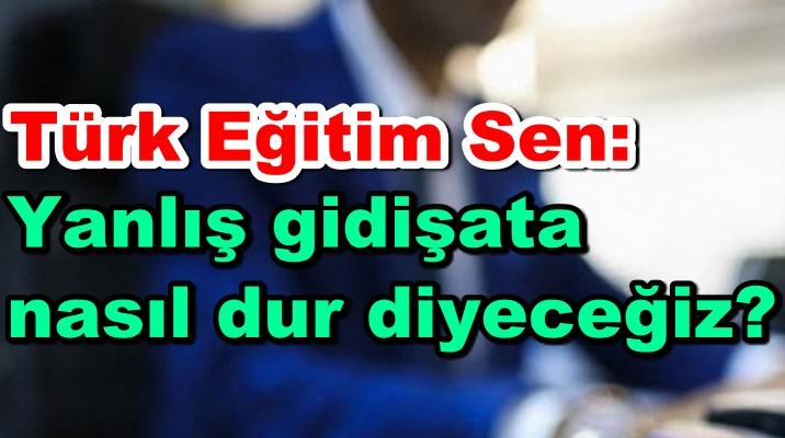Türk Eğitim Sen: Yanlış gidişata nasıl dur diyeceğiz?