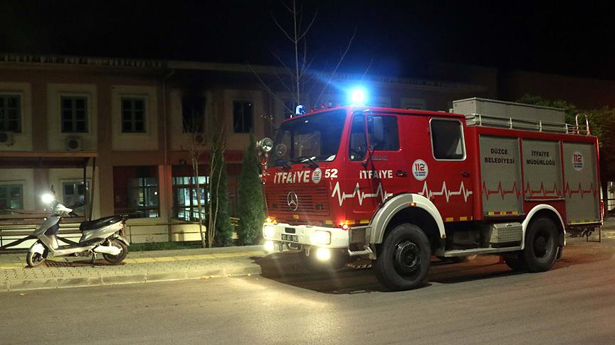 Düzce Üniversitesi'nde yangın