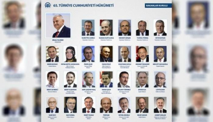 65. Hükümet Yeni Kabine Listesi - Bakanlar Kurulu
