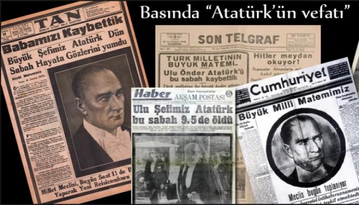 İşte 11 Kasım 1938 Günü Gazete Manşetleri