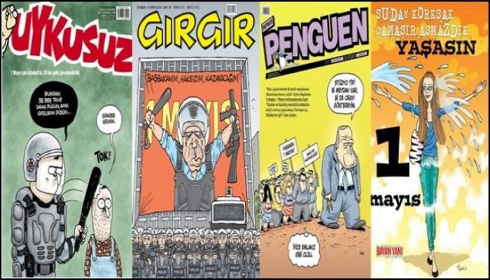 Mizah Dergilerinde Çok Konuşulan 1 Mayıs Kapakları